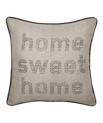 'Home Sweet Home' Linen Throw Pillow