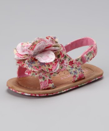 Pink Floral Little Jewel Sandal