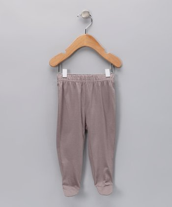 Mauve Finn Organic Footie Pants - Infant