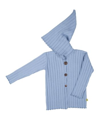 Stone Blue Merino Organic Ribbed Jacket - Kids