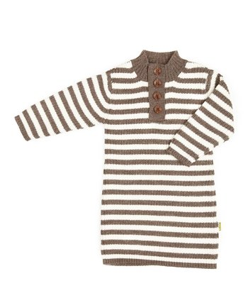 Cocoa & White Merino Organic Dress - Toddler & Girls