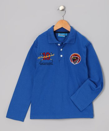 Blue '10' Polo - Toddler