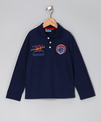 Navy '10' Polo - Toddler