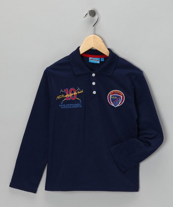 Navy '10' Polo - Toddler & Boys