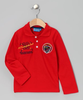 Red '10' Polo - Toddler & Boys