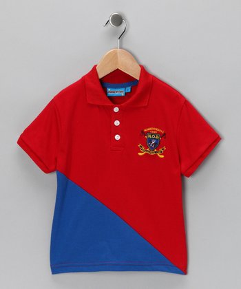 Red Club Crest Polo - Toddler & Boys