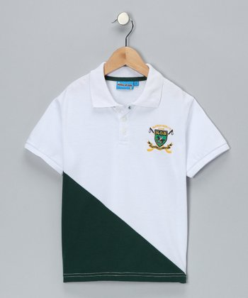 White Club Polo - Toddler & Boys