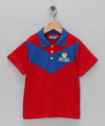 Red 'New Haven' Polo - Toddler & Boys