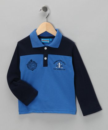 Blue 'Golf' Polo - Toddler