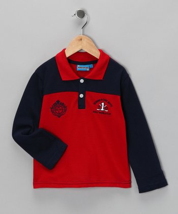 Red '1' Polo - Toddler & Boys