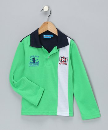 Green Racing Team Polo - Toddler & Boys