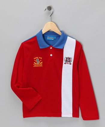 Red 'Racing Team' Polo - Toddler