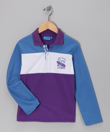 Purple 'Surf Team' Polo - Toddler & Boys