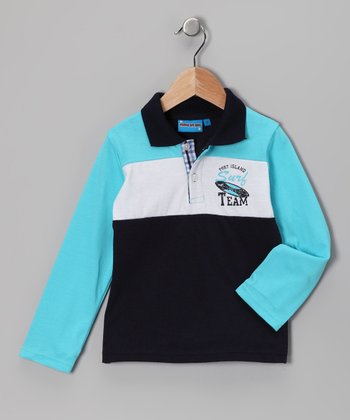 Navy 'Surf Team' Polo - Toddler & Boys