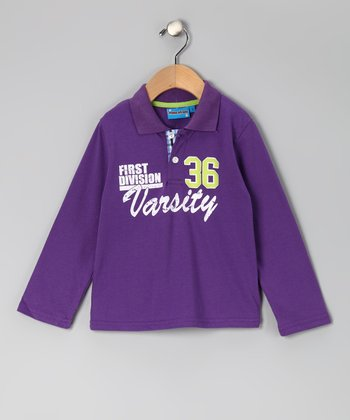 Purple 'Varsity' Polo - Toddler & Boys