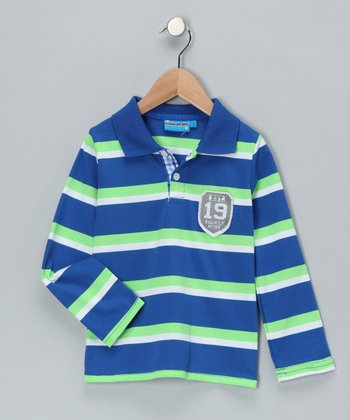 Blue Stripe '1989' Polo - Toddler