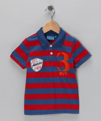 Red Stripe 'MVP' Polo - Toddler & Boys