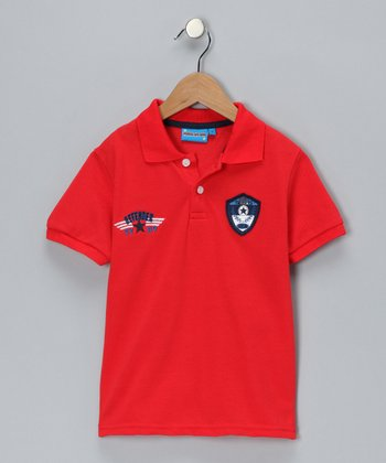 Red Defender Polo - Toddler & Boys