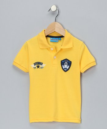 Yellow Defender Polo - Toddler & Boys