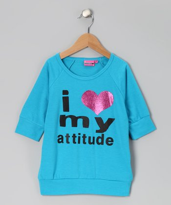 Aqua 'I Heart My Attitude' Top - Girls