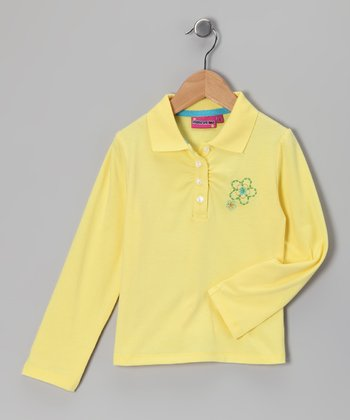 Yellow Flower Polo - Toddler & Girls