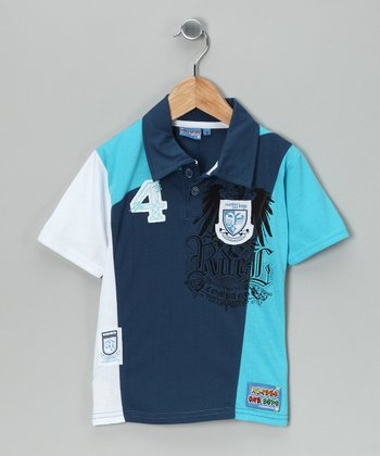 Blue '4' Polo - Toddler & Boys