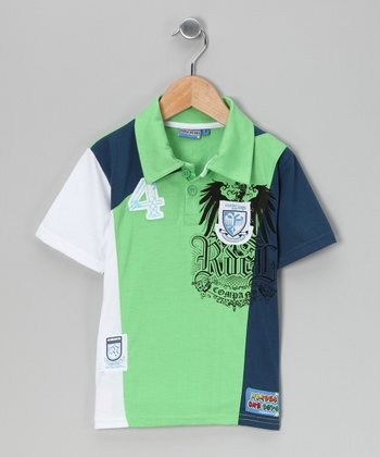 Green '4' Polo - Toddler & Boys