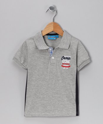 Gray 'Camp' Polo - Toddler & Boys