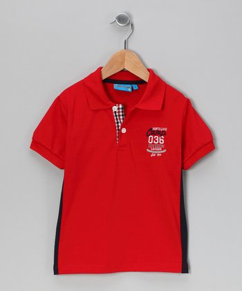 Red 'Camp' Polo - Toddler & Boys