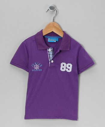 Purple '89' Polo - Toddler & Boys