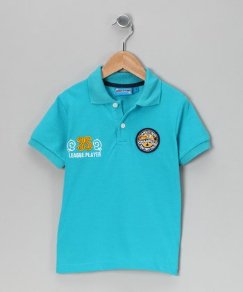 Blue 'Champion' Polo - Toddler & Boys