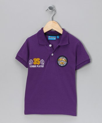 Purple 'Champion' Polo - Toddler & Boys