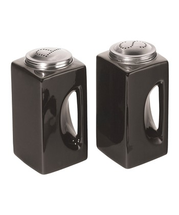 Black EZ-Grip Salt & Pepper Shakers