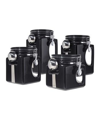 Black EZ-Grip Canister Set