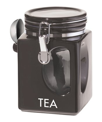 'Tea' EZ-Grip Canister & Spoon