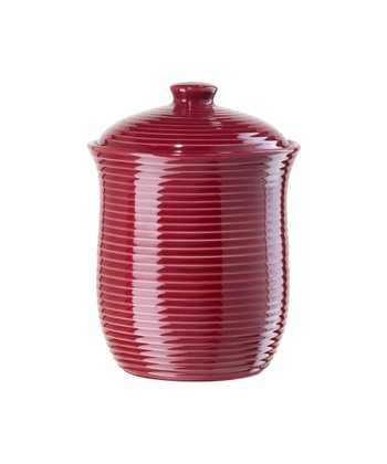 Red 30-Oz. Ribbed Airtight Canister