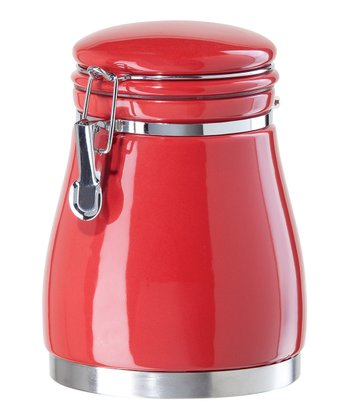 Red 54-Oz. Airtight Canister