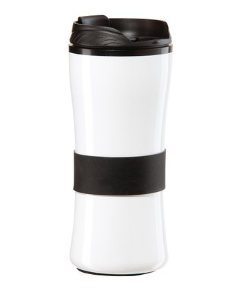 OGGI Black & White 16-Oz. Travel Mug