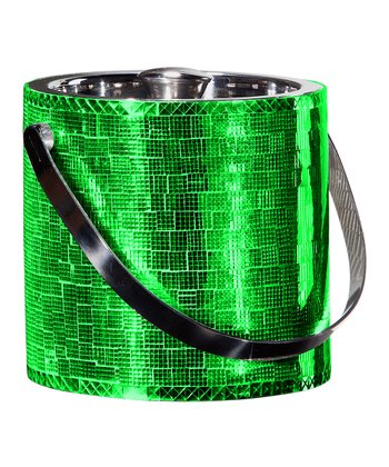 Green Mosaic Double-Walled Ice Bucket