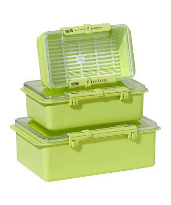 Green Snap 'n' Seal Three-Piece Container Set