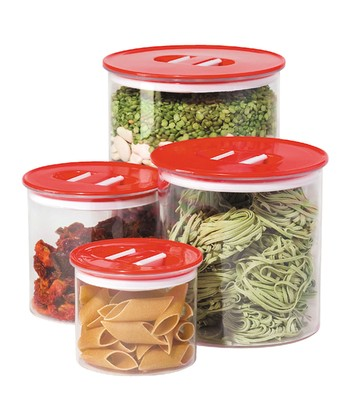 Red Stack 'n' Store Canister Set