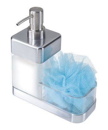 Square Soap Dispenser & Scrubby Brush