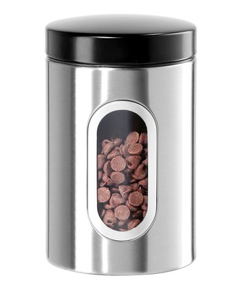 Small Stainless Steel Window Canister