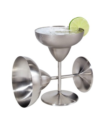Corporation Stainless Steel Margarita Glass - Set of Two