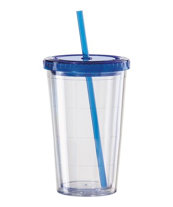Blue 16-Oz. Lidded Tumbler