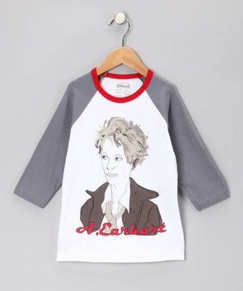 Slate 'A. Earhart' Raglan Tee - Infant, Toddler & Girls