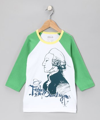 Green 'Father of the Country' Raglan Tee - Infant, Toddler & Boys
