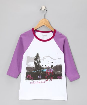 Purple 'Sakakawea' Raglan Tee - Infant, Toddler & Girls