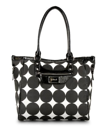 Black Dots Betsy Tall Diaper Bag