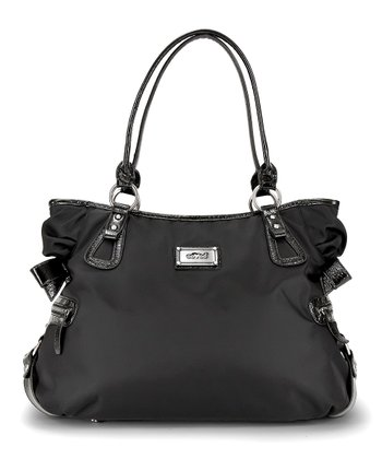 Black Noir Christina Hobo Diaper Bag